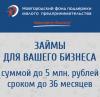 Информация о займах, предоставляемых Новгородским фондом поддержки малого предпринимательства (микрокредитная компания)